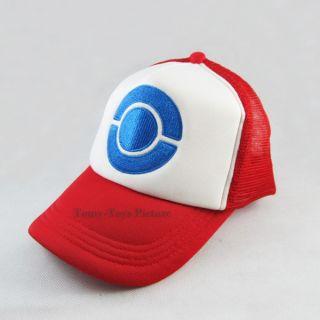 New Pokemon Ash Ketchum Costume Cosplay Cap Hat