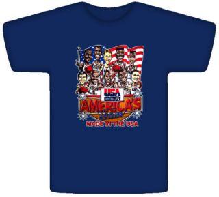 USA Basketball 1992 Dream Team Caricature T Shirt