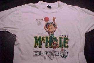 Vintage Kevin McHale Boston Celtics Caricature Large T Shirt