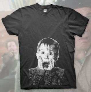 Home Alone High Quality T Shirt Macaulay Culkin Kevin Christmas Funny