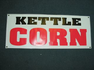 KETTLE CORN BANNER Sign NEW Larger Size for Shop Restaurant Pop Corn