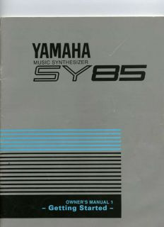 Yamaha SY85 Keyboard Piano Synthesizer Manual