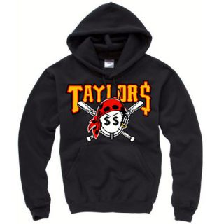 Wiz Khalifa Taylor Gang Taylors Hoodie Pirate Black Top Sweatshirt