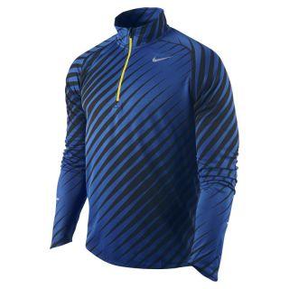 Nike Element Jacquard Mens Running Shirt 3XL New $70 451280 011 Blue