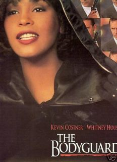 Whitney Houston Kevin Costner Bodyguard Promo Poster Ad