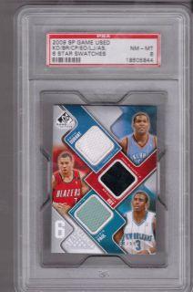 Lebron James, Kevin Durant, Stoudemire, Paul 6X Total Jersey card PSA