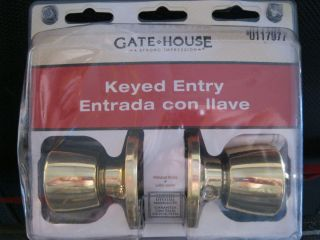 Gate House Keyed Entry Lock Set Door Knob