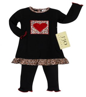 SWEET JOJO DESIGNS DESIGNER LEOPARD KID BABY GIRL OUTFIT CLOTHING