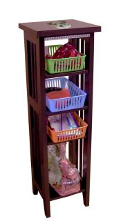 Dog Terrier Pet Storage Organizer Wood Cabinet Unit Book Case