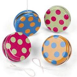 Polka Dot Yoyos Birthday Kids Party Favors Toys Games Prizes Treats