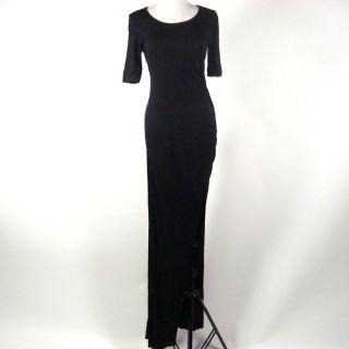 Khloe Kardashian A L C Black Full Length Short Sleeved Dress Size M