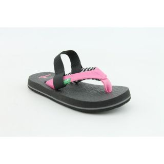 Sanuk Yoga Mat Kids Infant Baby Girls Size 8 Pink Flip Flops Sandals