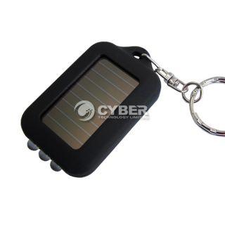 Keychain Portable 3 LED Flashlight Solar Powered Torch High Quality