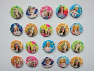 Barbie Button Pin Badge Kids Party Bag Fillers Toys Collect