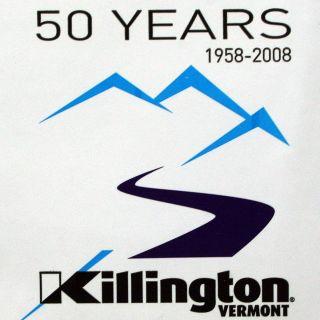 KILLINGTON Vermont 50 Year Commemorative Sticker Decal Ski Snowboard