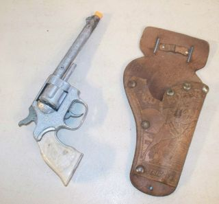 Kilgore Shootin Iron Roy Rogers Cap Gun Toy Only Holster 1950s 10 1 2