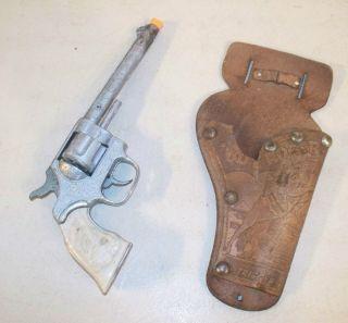 Kilgore Shootin Iron Roy Rogers Cap Gun Toy Only Holster 1950s 10 1 2