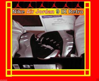 Air Jordan Retro 9 IX Black Silver Johnny Kilroy Size 8 5 NIB Receipt