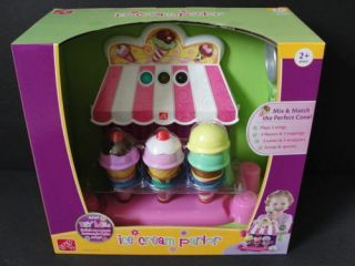 Musical Ice Cream Parlor Cones Kids Play Food Cook Set Dish Kitchen