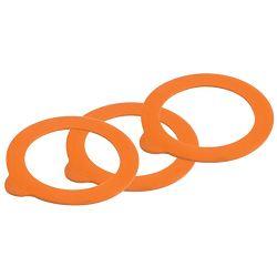 Kilner Jar Replacement Rubber Seals Orange Pack of 6