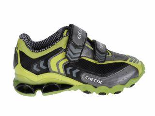 Toddler Kids Boys Geox J Tornado Black Lime Velcro Sneakers J11F1S