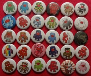 30 Domo Pins Buttons Badges DomoKun Kids Toys TV Show Game Plush Etc