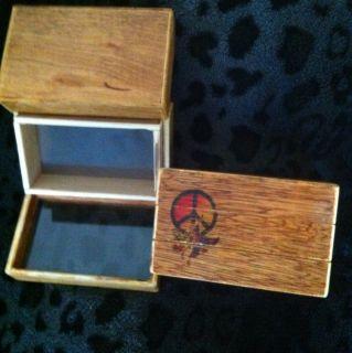 Cool Peace Sign Kief Box Pollen Box Handmade Usable Art