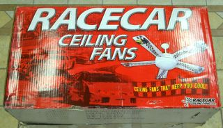 NASCAR Style Racecar Ceiling Fan Kids Love Cars? Someone has a Car