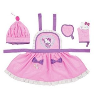 Hello Kitty Kids Play Kitchen Apron Oven Glove Gift Set Fairy