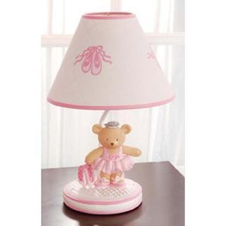 Kids Line Twirling Around Ballerina Bear Lamp Base & Shade Pink Baby