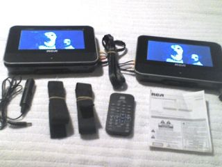 RCA DUAL SCREEN PORTABLE DVD PLAYER GREAT FOR KIDS IN CAR WORKS