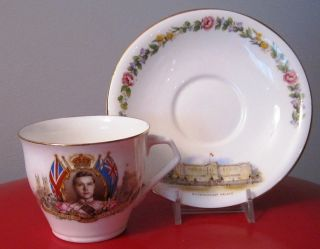 King Edward VIII Proposed Coronation Cup and Saucer Aynsley