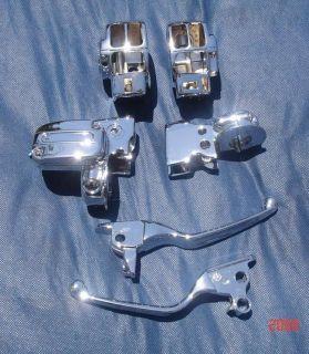 Genuine Harley Chrome Hand Controls Road King Road Glide 08 12