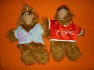 ALF Beach Baseball Hand Puppets 1988 Burger King TV Show Collectible