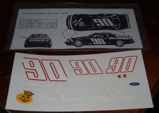 Decal Set 90 Ken Schrader Ultra Seal Sunny King 1 25 Waterslide