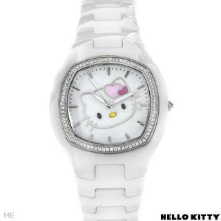 KIMORA LEE SIMMONS HELLO KITTY DIAMOND WHITE CERAMIC WATCH