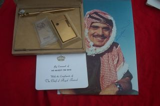 His Majesty King Hussein of Jordan Caran D Ache Pen Lighter Set