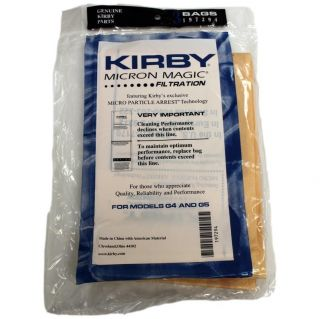 Genuine Kirby G3 G4 G5 G6 Micron Magic Vacuum Cleaner Bags or Belt