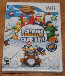 Club Penguin Game Day Wii 2010 New Factory SEALED