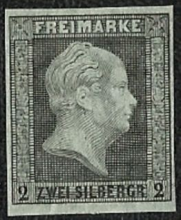 1873 Prussia German States King William Reprint of 1850#4 A2 2sg