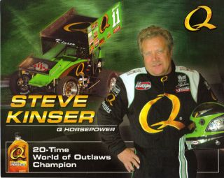 Steve Kinser 2008 Quaker State Woo Sprint Car Postcard