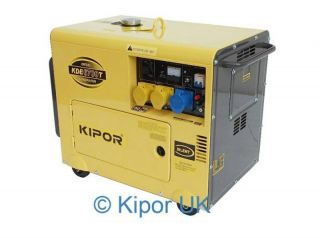 Kipor KDE 6700T 5 KVA Diesel Generator Electric Start Encased
