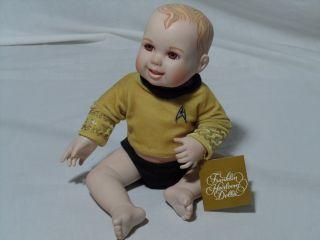 RARE Franklin Heirloom Star Trek Captain James T Kirk Baby Doll w Orig