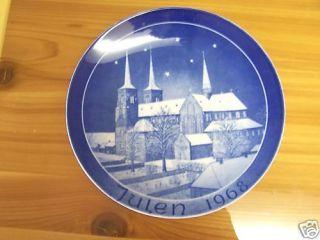 1968 Blue Plate Julen Kirke Jule Platen Danmark