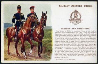 MOUNTED POLICE G Polden History Traditions King Edward VII badge 1909