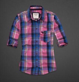 Abercrombie Women Kirstie Plaid Shirts MSRP $ 68