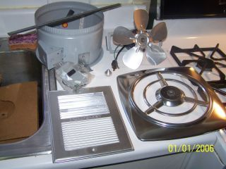 vtg MIAMI CAREY kitchen exhaust fan NEW NEVER USED in org. box FREE