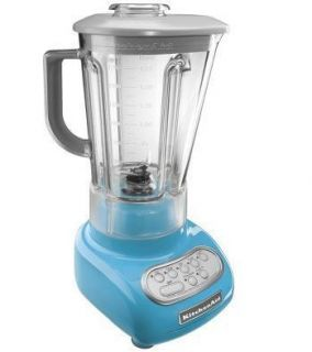KitchenAid Crystal Blue 5 Speed Blender KSB560CL w Poly Unbreakble Jar
