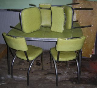 1950s chrome - Chrome Kitchen Table