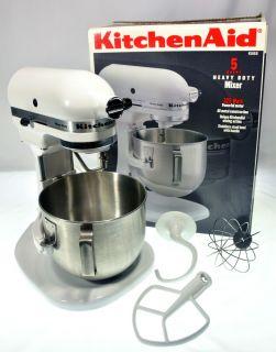 KitchenAid K5SS Heavy Duty Commercial 325 Watts Stand Mixer White